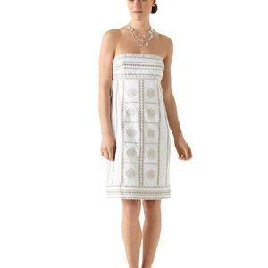 WHBM strapless summer dress EUC